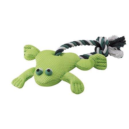 Brinquedo para Cachorro Sapo com Corda