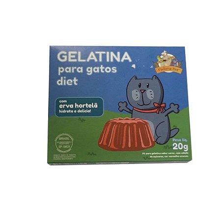 Gelatina para Gatos com Hortelã