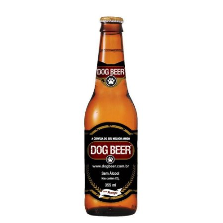 Dogbeer cerveja p/ cachorro sabor Frango-355ml-5 unidades