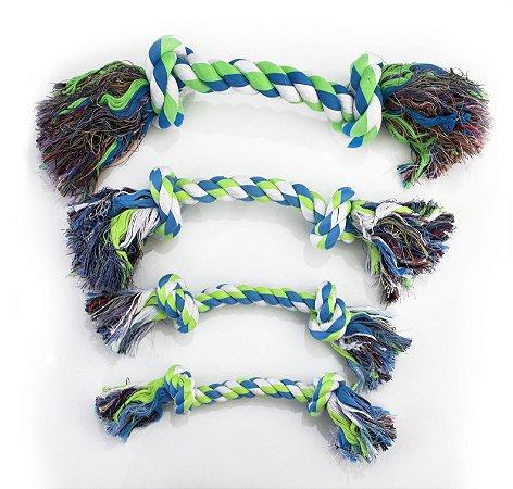 Brinquedo de Corda Villapet Dental Bone Nº2 Verde e Azul