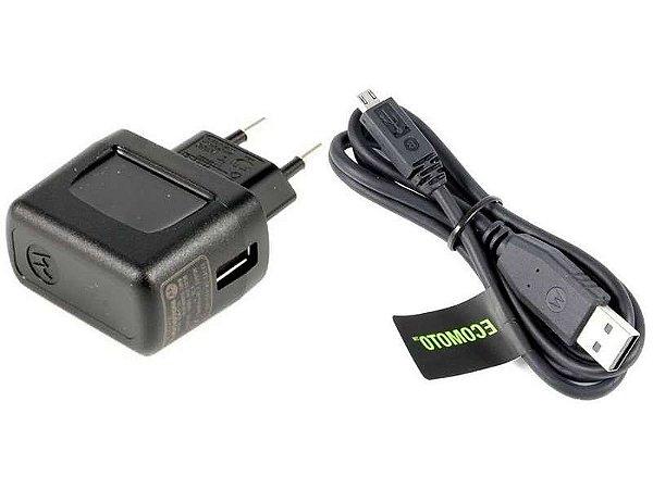 Carregador Motorola Original com Cabo Micro USB para Tomada