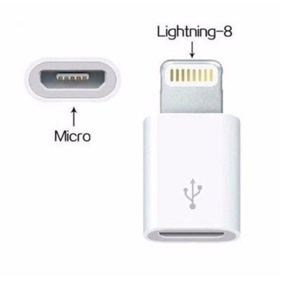 Adaptador Micro USb para Lightning Iphone