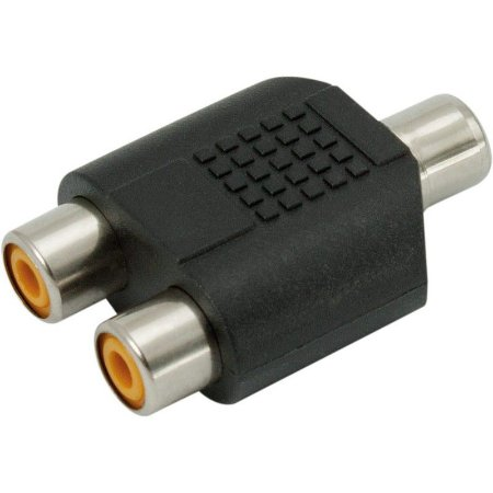 Adaptador 2 RCA F para 1 RCA F