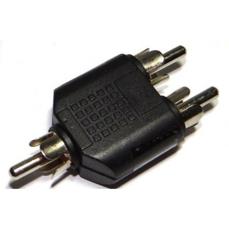 Adaptador 2 RCA M para 1 RCA M