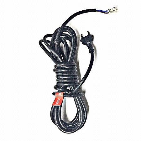 Cabo Eletrico 2x1,5 Plug 16a C/ 5,5m Para Wap Class Preta