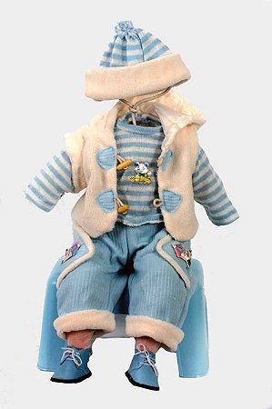 Roupinha Boneca Little Children 027 menino
