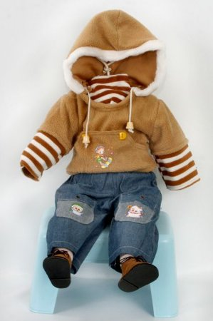 Roupinha Boneca Little Children modelo menino 196A