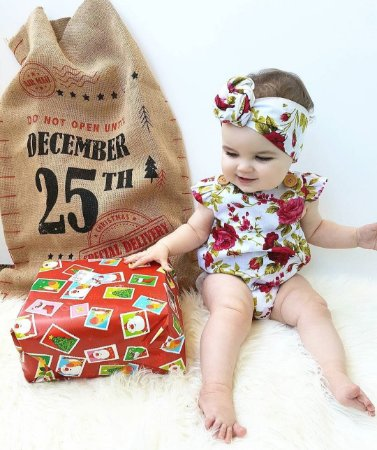 Roupa Infantil menina Bebê Body Floral