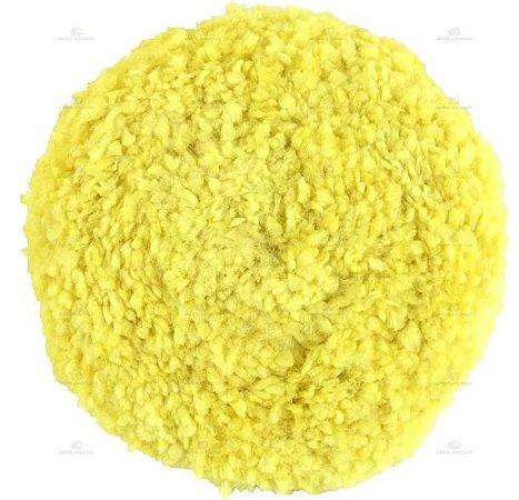 """Boina Lã Dupla Face Amarela Macia 8"""" - Buff And Shine"""