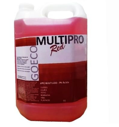 APC MULTIPRO RED - Limpador Multiuso Ácido 5LT - Go Eco Wash