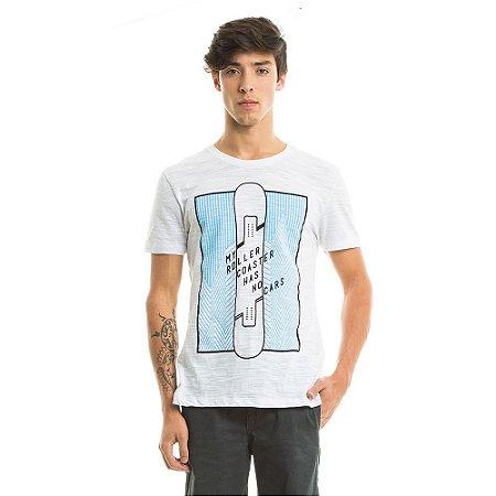 Camiseta Estampada Roller Coaster Branca
