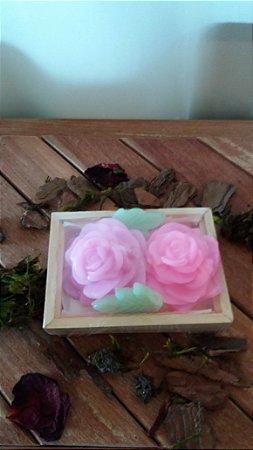 Caixa com 2 sabonetes de Flor