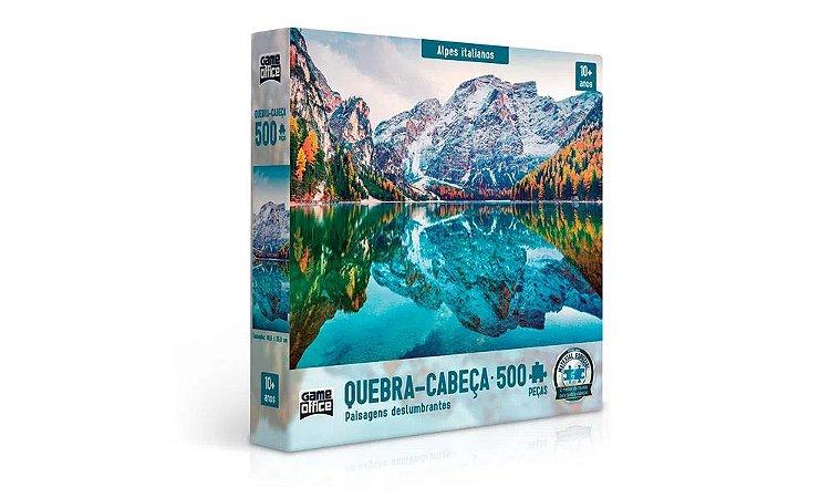Quebra-Cabeça 500 Peças | PAISAGENS DESLUMBRANTES - Alpes Italianos | GAMEOFFICE