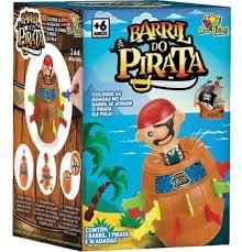 BRINQUEDO BARRIL DO PIRATA - ART BRINK