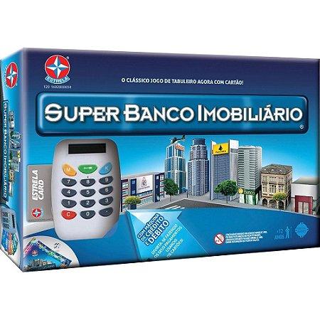 JOGO SUPER BANCO IMOBILIÁRIO C/ MAQUININHA DE CRÉDITO   BRINQUEDOS ESTRELA
