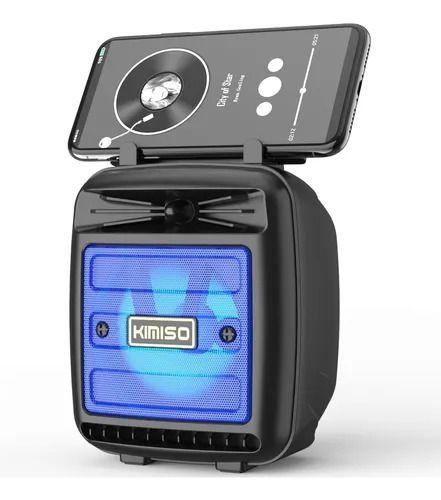 Caixa de Som Bluetooth Preta C/ Suporte para Celular