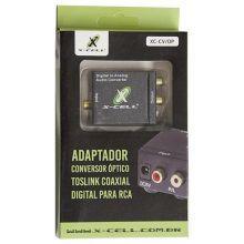 Conversor Áudio Óptico X Rca Xcell Xc-cv/op - Digital Conveniencia