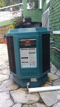 Troca de compressor e condensador de aquecedor de banho e piscina