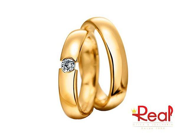 Alianças Sergipe em Ouro Amarelo18K com Brilhantes - Real Ótica ... bafc9a2996