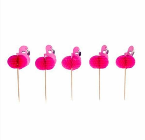 TOPPERS FLAMINGO 3D (10 UNID)