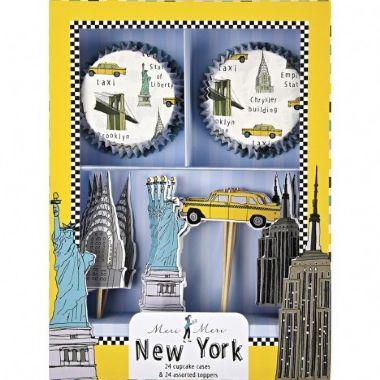 KIT PARA CUPCAKE NEW YORK (24 FORMINHAS+24 TOPPERS)