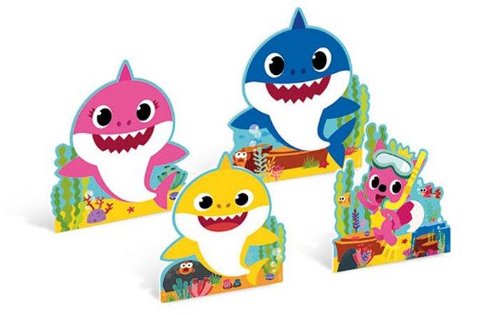 SILHUETAS DECORATIVAS BABY SHARK (4 UNIDADES)