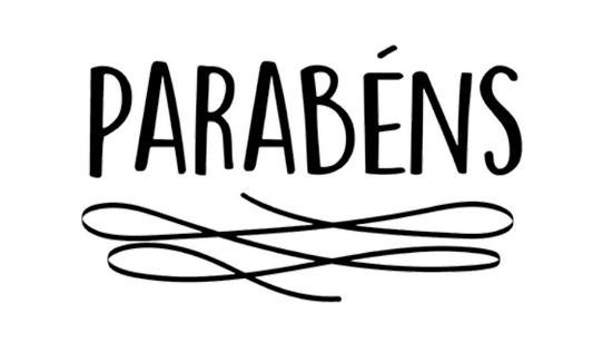 TRANSFER PARA BALÃO PERSONALIZADO PARABÉNS PRETO (22 X 18 CM)