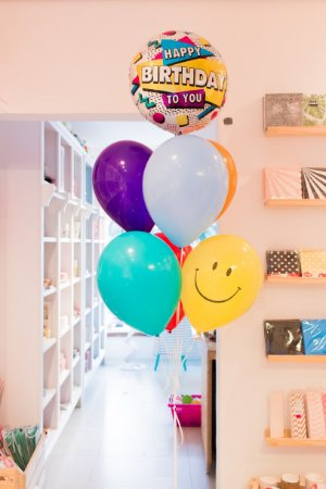 BUQUÊ DE BALÕES HAPPY BIRTHDAY