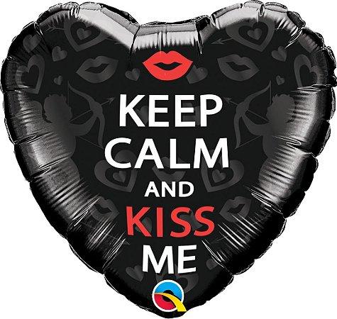BALÃO KEEP CALM AND KISS ME (UNIDADE)