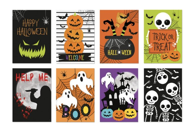 POSTERS HALLOWEEN (8 UNIDADES)