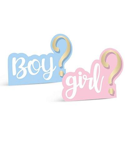 SILHUETAS DECORATIVAS BOY OR GIRL (2 UNIDADES)