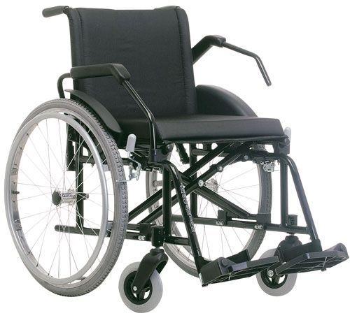 Cadeira de rodas Poty pneu inflável em aço até 120Kg