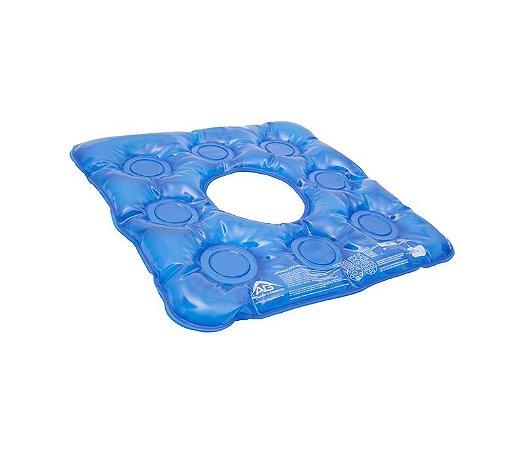 Almofada (forração) ortopédica gel quadrada com orifício