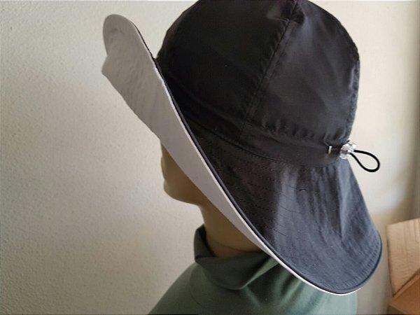 Chapéu dupla face elástico com proteção UV