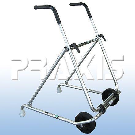 Andador em aço cromado dobrável com rodas LY-506 (hosp)