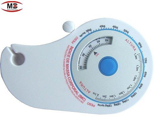 Fita métrica 1,5m para circunferências com cálculo de imc