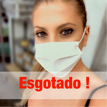 FRETE GRÁTIS - Máscara TNT piquet