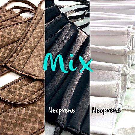 MIX - Glam + Preta Neoprene + Branca Neoprene
