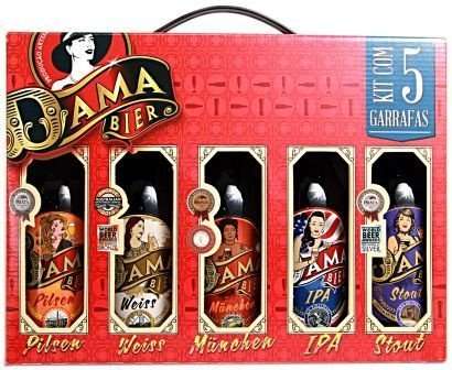 Kit 5 Cervejas Dama Bier 355 ml