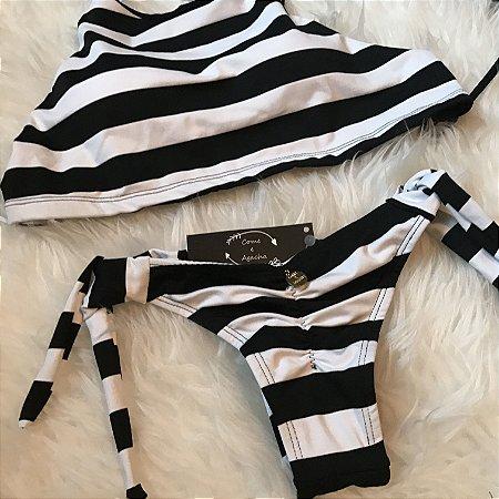 Biquini - conj Cropped Black & White