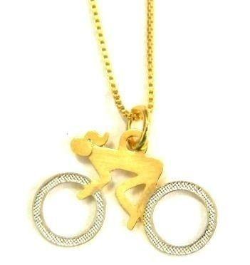 Colar Bike Girl - Dourado