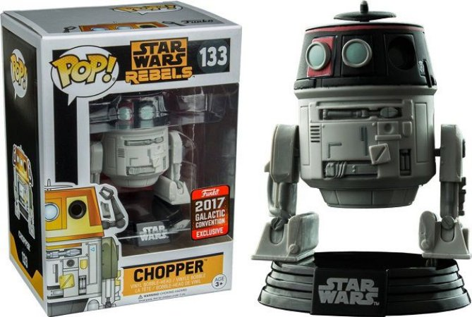 Funko Pop Star Wars Chopper - 133 (Galactic Convention Exclusive)