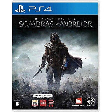 Terra Média Sombras de Mordor PS4 - Usado