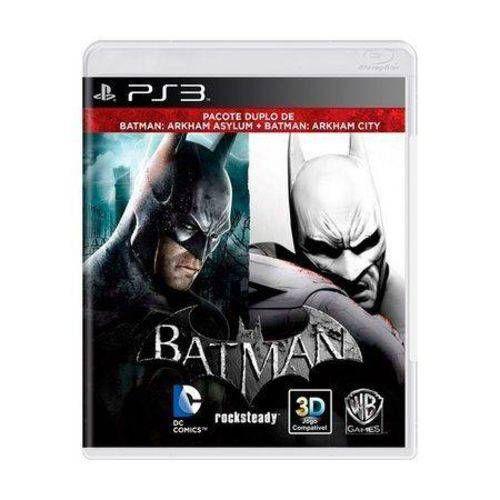 Batman Arkham Asylum + Batman Arkham City PS3 - Usado