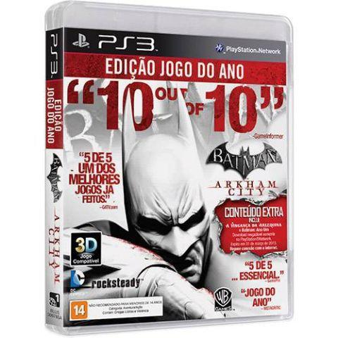 Batman Arkham City Edição Jogo do Ano PS3 - Usado