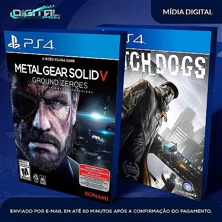 Metal Gear Solid V + Watch Dogs PS4 Mídia Digital