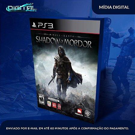 Shadow of Mordor PS3 Mídia Digital