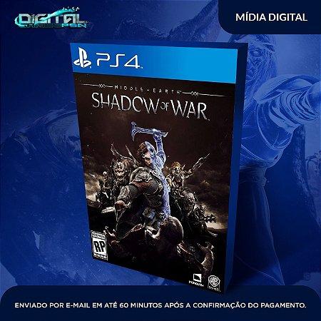 Shadow of War Ps4 Mídia Digital