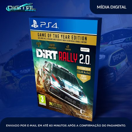 DiRT Rally 2.0 Game of the Year Edition Ps4 Mídia Digital