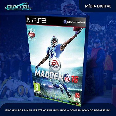 Madden NFL 16 PS3 Mídia Digital